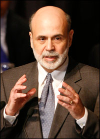 Federal Reserve Chairman Ben Bernanke outlined the central bank's strategy Wednesday for withdrawing stimulus money once the country's economic recovery is more firmly in place. (AP Photo by Mark Lennihan)
