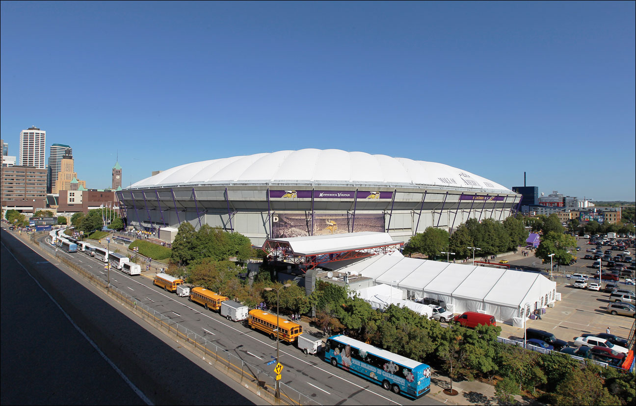 The Hubert H. Humphrey Metrodome will be demolished after the Minnesota Vikings season concludes. Historians and fans are requesting features from the dome as the wrecking ball looms. (AP file photo by Ann Heisenfelt)