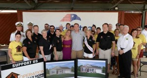 National nonprofit organization Operation FINALLY HOME joined local Wisconsin builders Belman Homes and Tim O'Brien Homes, along with representatives from the Structural Building Components Association and Neumann Cos., at the Wisconsin State Fair on Aug. 15 to deliver a surprise announcement to U.S. Army Sgt. Drew Wroblewski.