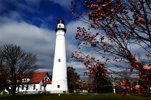 Racine County for the first time is allocating money to the Wind Point Lighthouse to help with a host of maintenance needs, including work on the roof and gutters and rebuilding the north chimney. The county allocated $10,000 in its recently-approved 2016 budget. The Village of Wind Point, which owns the lighthouse, is reaching out to other entities as well in the hopes of offsetting hundreds of thousands worth of maintenance costs. (Gregory Shaver/The Journal Times via AP)
