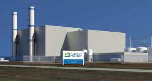 Alliant Energy kicked off work Thursday on a new $700 million gas-fired power plant in Beloit. Some say the work was cheaper because of a lack of a project-labor agreement. (Rendering courtesy of Alliant Energy)