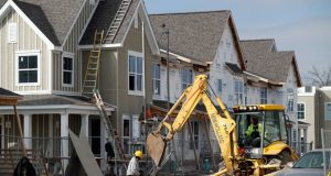 Work continues on new housing under construction in St. Louis on Jan. 30. Homebuilders across Wisconsin and the U.S. are struggling to keep up with an increasing demand. (AP File Photo/Jeff Roberson)